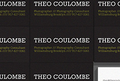 Project: Cards for Photography Consultant Theo Coulombe